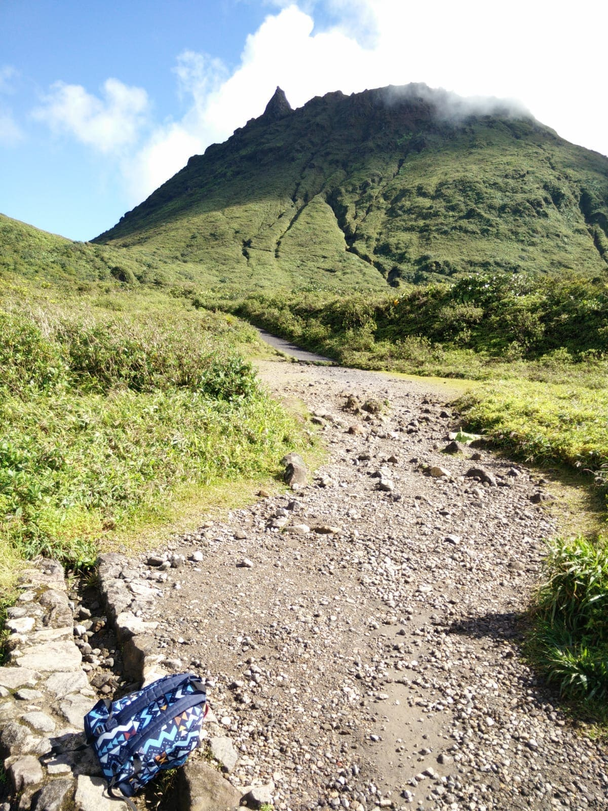 hiking trail to the Soufriere volcano